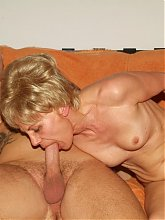 Sexy older women Rita and Rosalie take turns on a young cock and enjoy getting cum hosed live