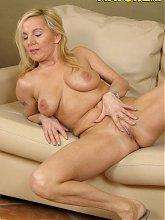 Blonde mature slut fucking her younger loveslave