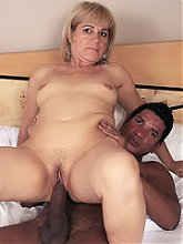 Horny MILF Chamara warms up a big black dick with her lips and gets it stuffed into her bum