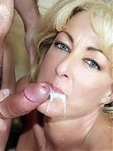 Lexi Carrington shows a younger guy her pair of huge titties and lures him into sex